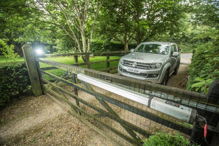 wooden 5 bar electric driveway gate installers Bristol