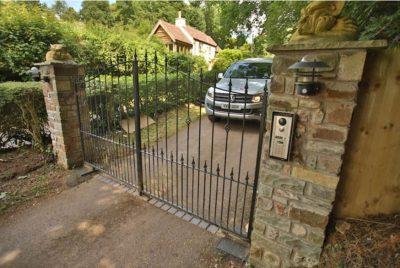 Domestic metal driveway gates
