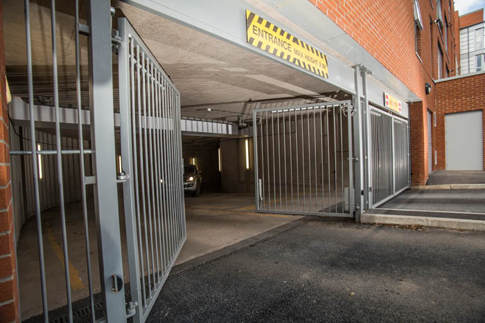 The Cabot Steel Car Park Entrance And Exit Electric
