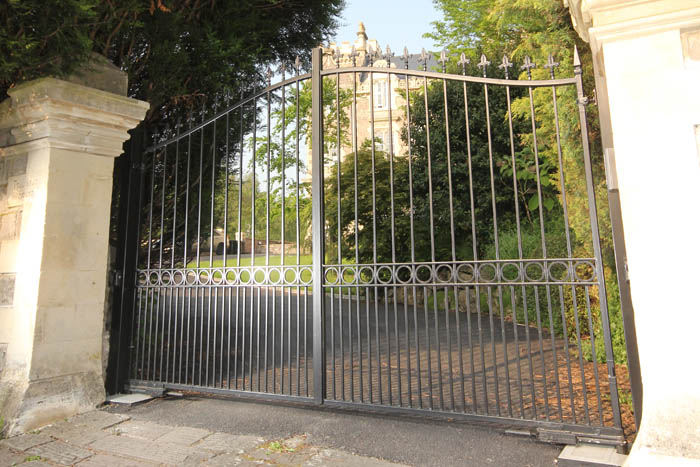 The Clifton Bell Top Electric Wrought Iron Gates