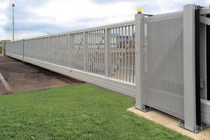 aluminium industrial electric gates