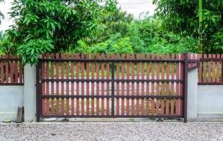 wood fill sliding driveway gates