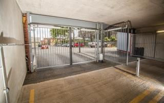 underground car park automated metal security gate
