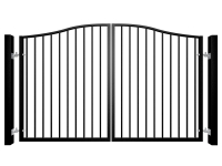 Traditional Bell Top Swinging Metal Gate