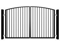 Traditional Arch Top Swinging Metal Gate