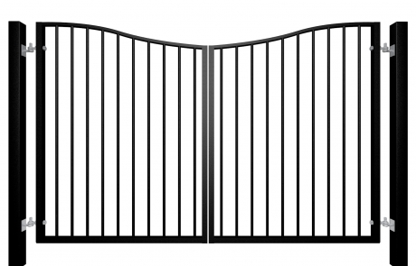 Bow Top Swinging Metal Driveway Gate Bristol