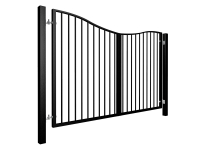 Bow Top Swinging Metal Gate Nailsea