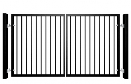 Traditional Flat Top Swinging Metal Gate Bristol