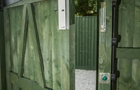 wooden feather edge pedestrian gates