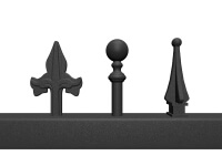 steel cast gate fencing finials