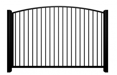metal traditional style automated driveway gate with arch top