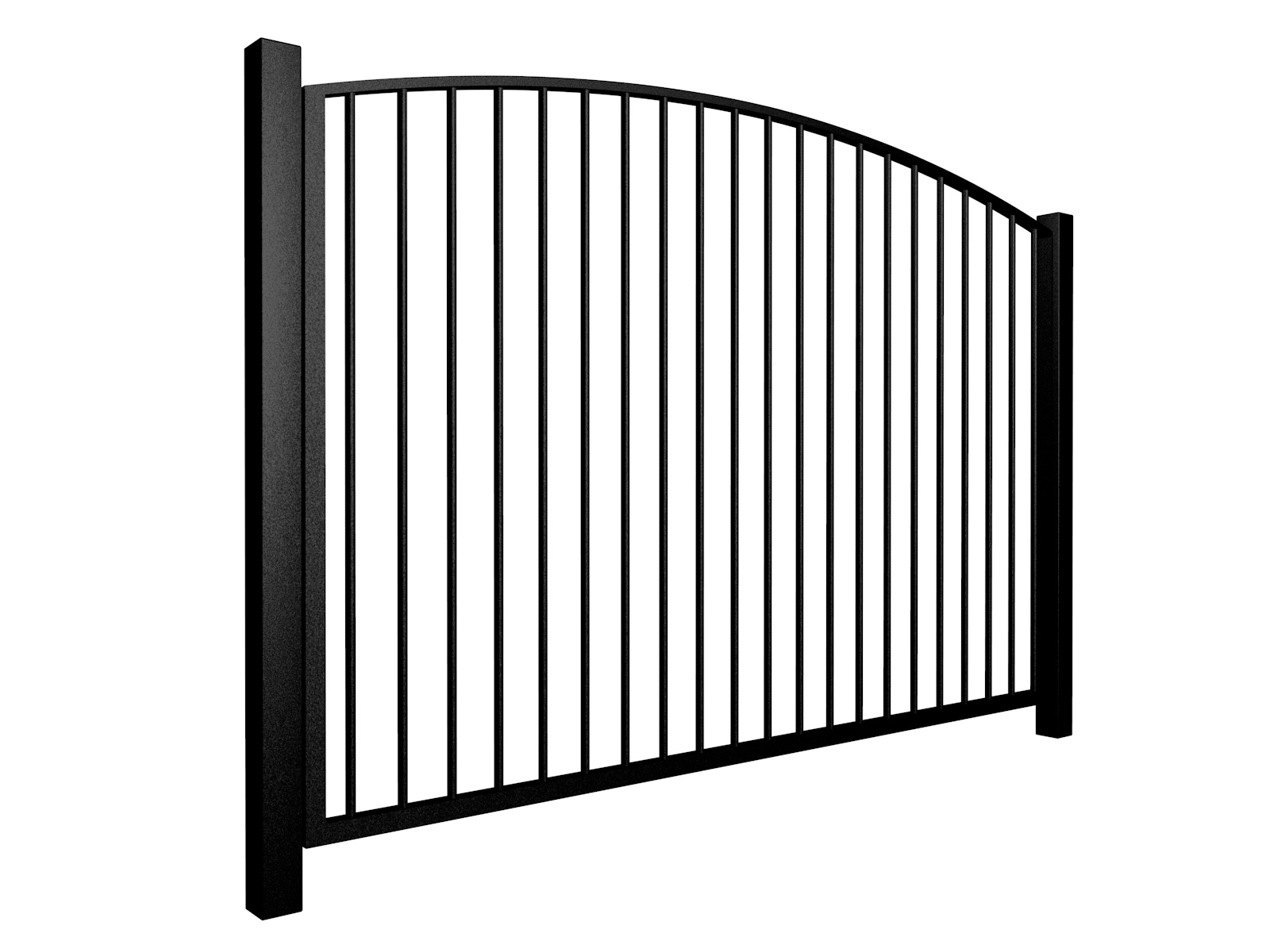 metal traditional style automated gate with arch top