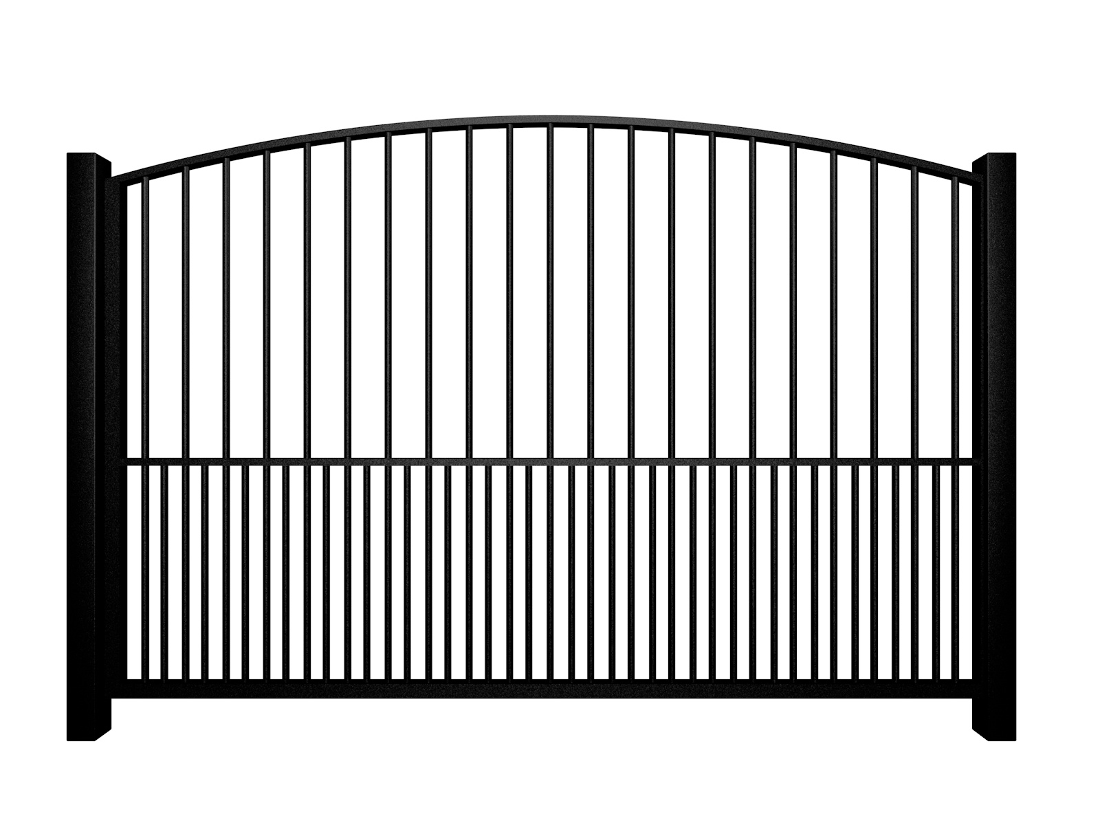 metal traditional style automated gate with arch top dog bars somerset