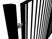 Arch Top Swinging Metal Gate