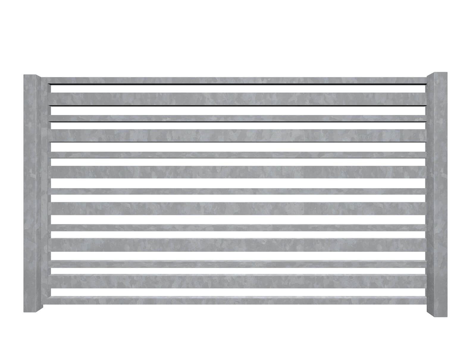 horizontal bars galvanised sliding commercial metal box section gates