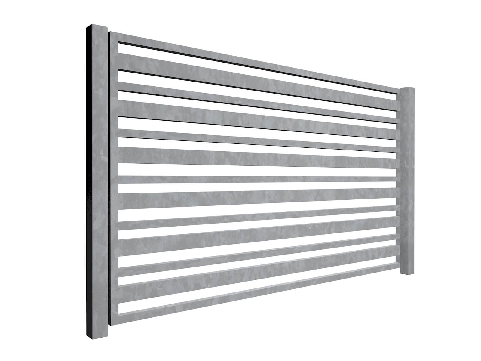 galvanised sliding commercial metal box section gates