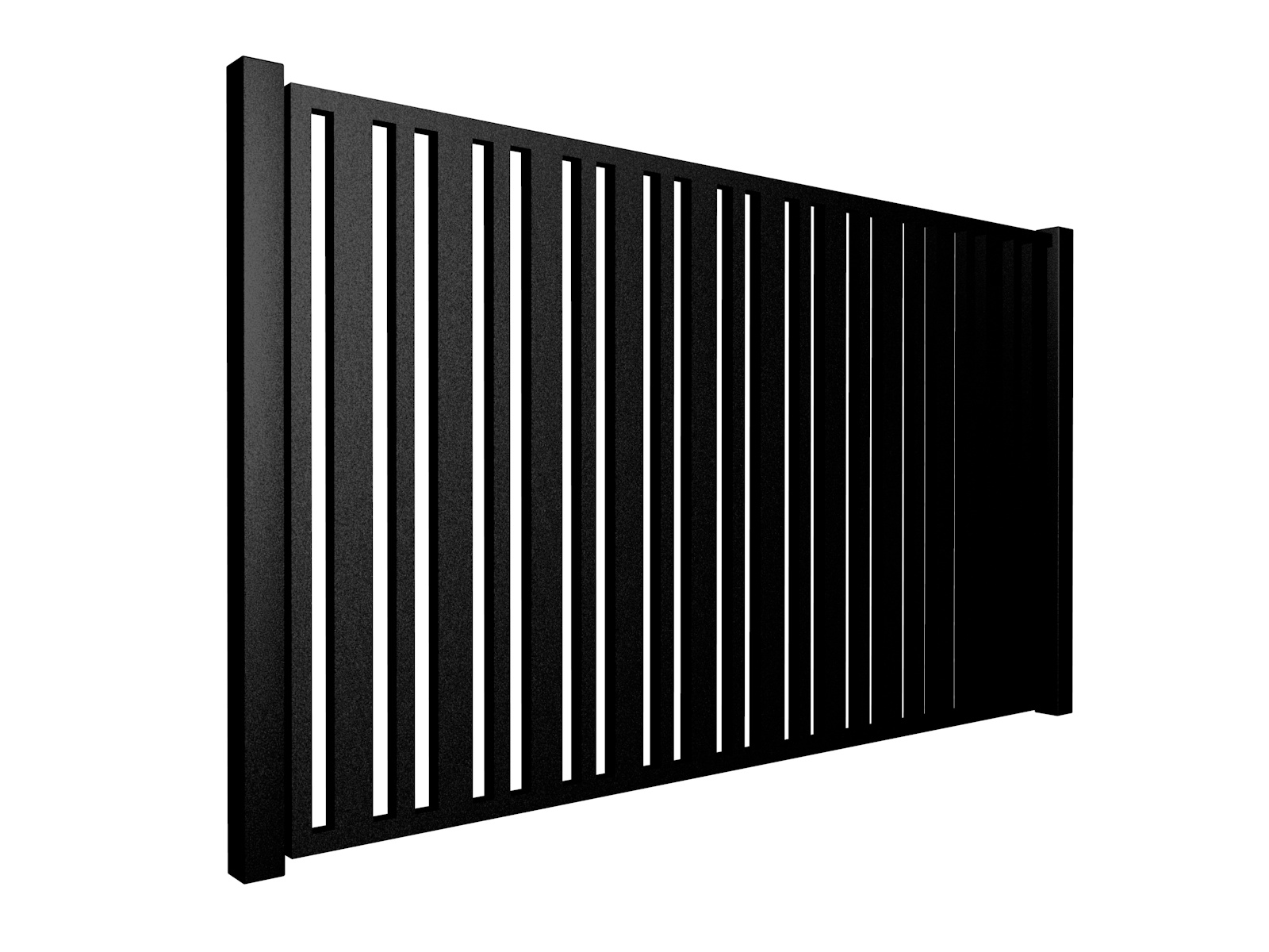 contemporary metal sliding automated box section gate