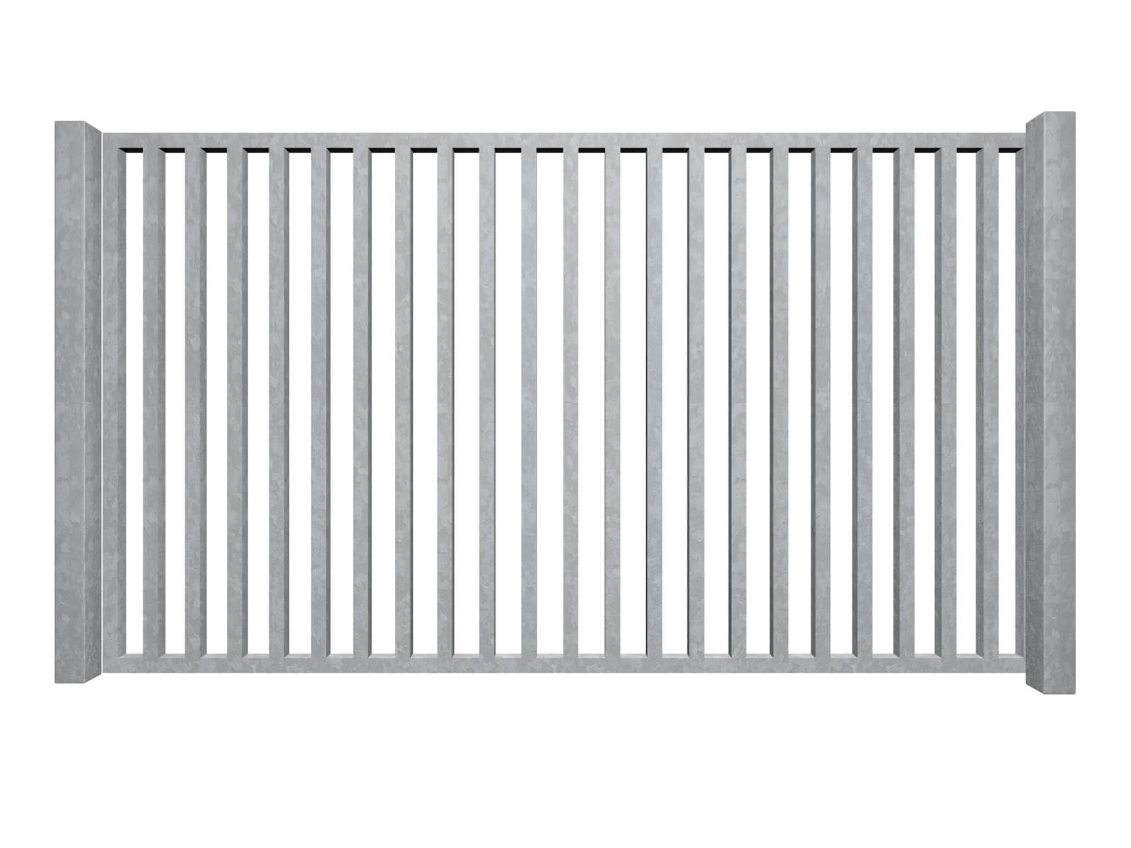 galvanised sliding commercial metal box section gates bristol