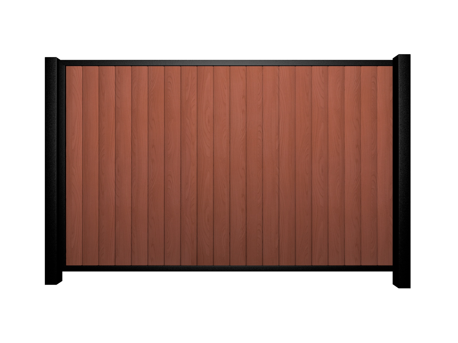 Sliding wood fill metal framed flat top gate nailsea