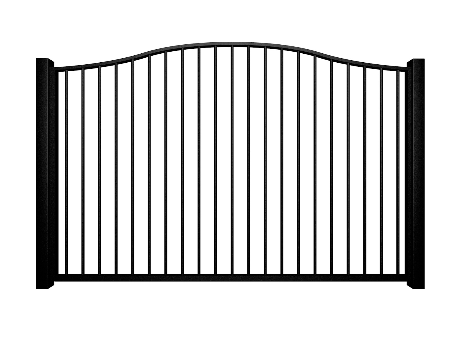 metal traditional style automated gate with bell top