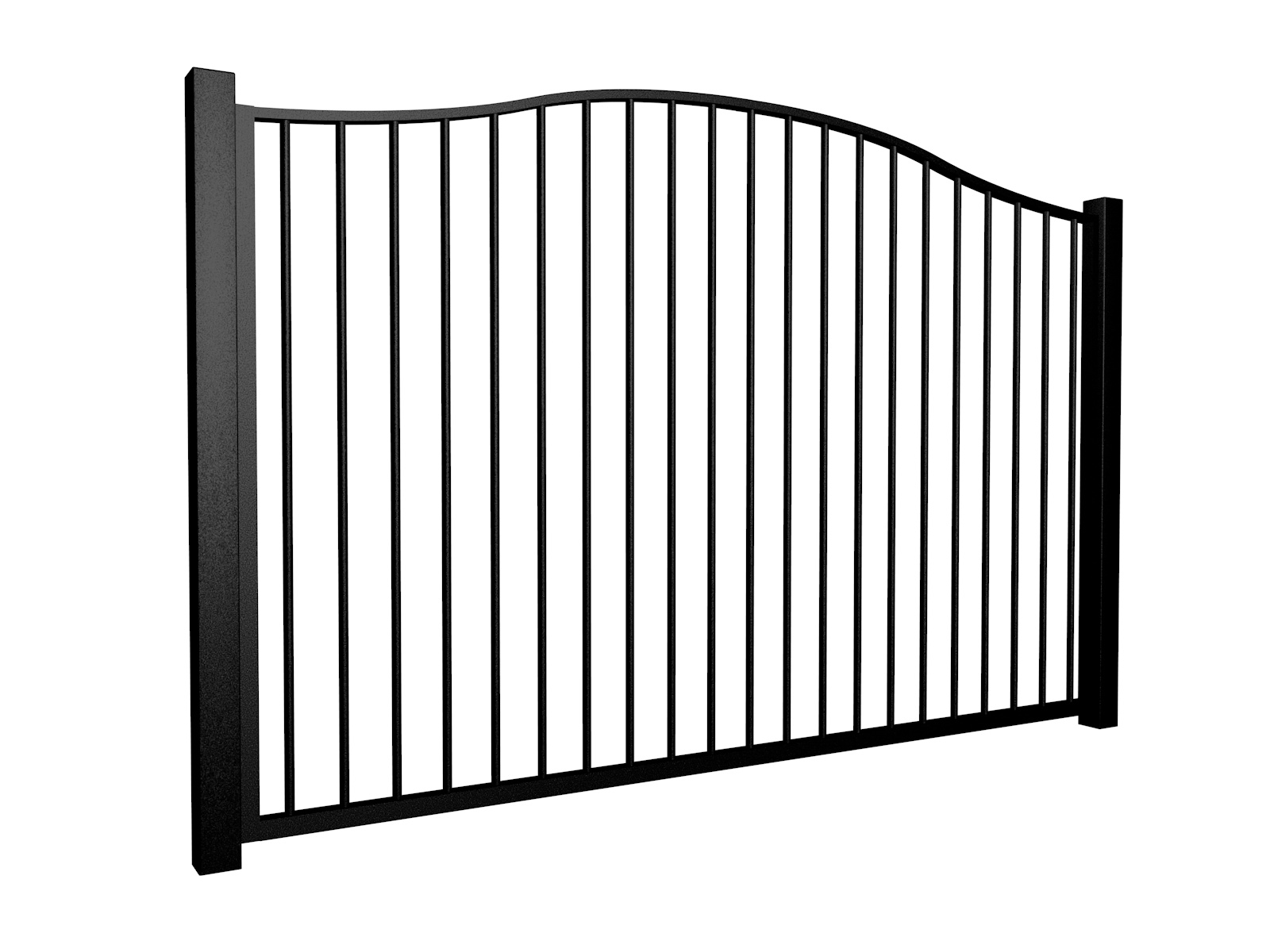 metal traditional style automated driveway gate with bell top