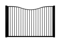 metal traditional style automated gate with bow top bristol