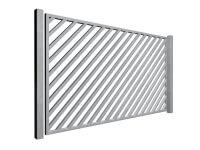 diagonal bars galvanised sliding commercial diagonal metal box section gates