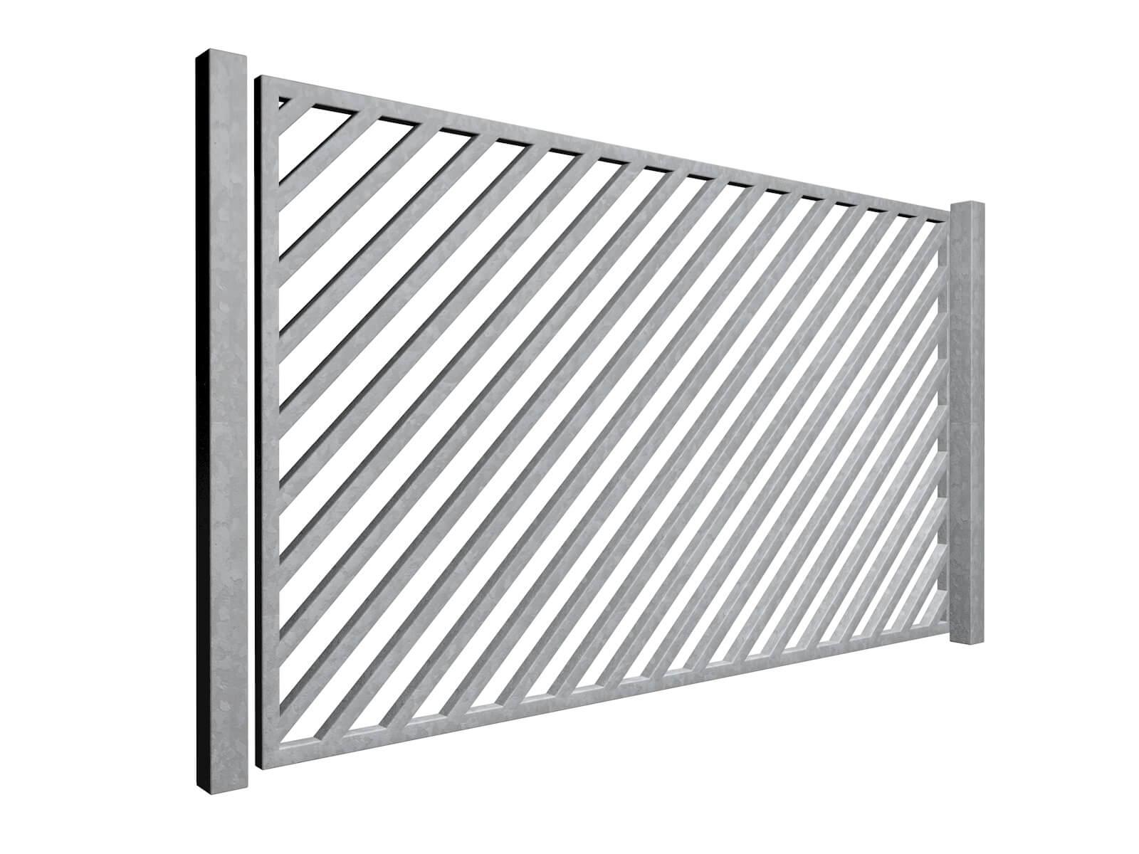 diagonal bars galvanised sliding commercial diagonal metal box section gates bristol