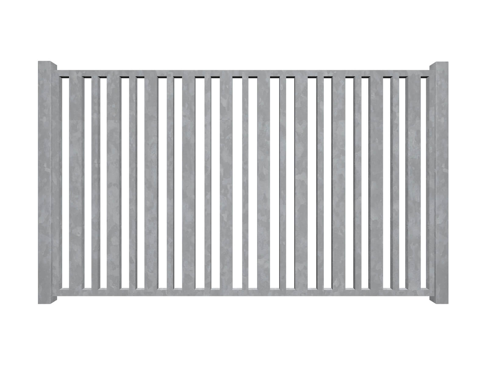 vertical bars galvanised sliding commercial metal box section gates
