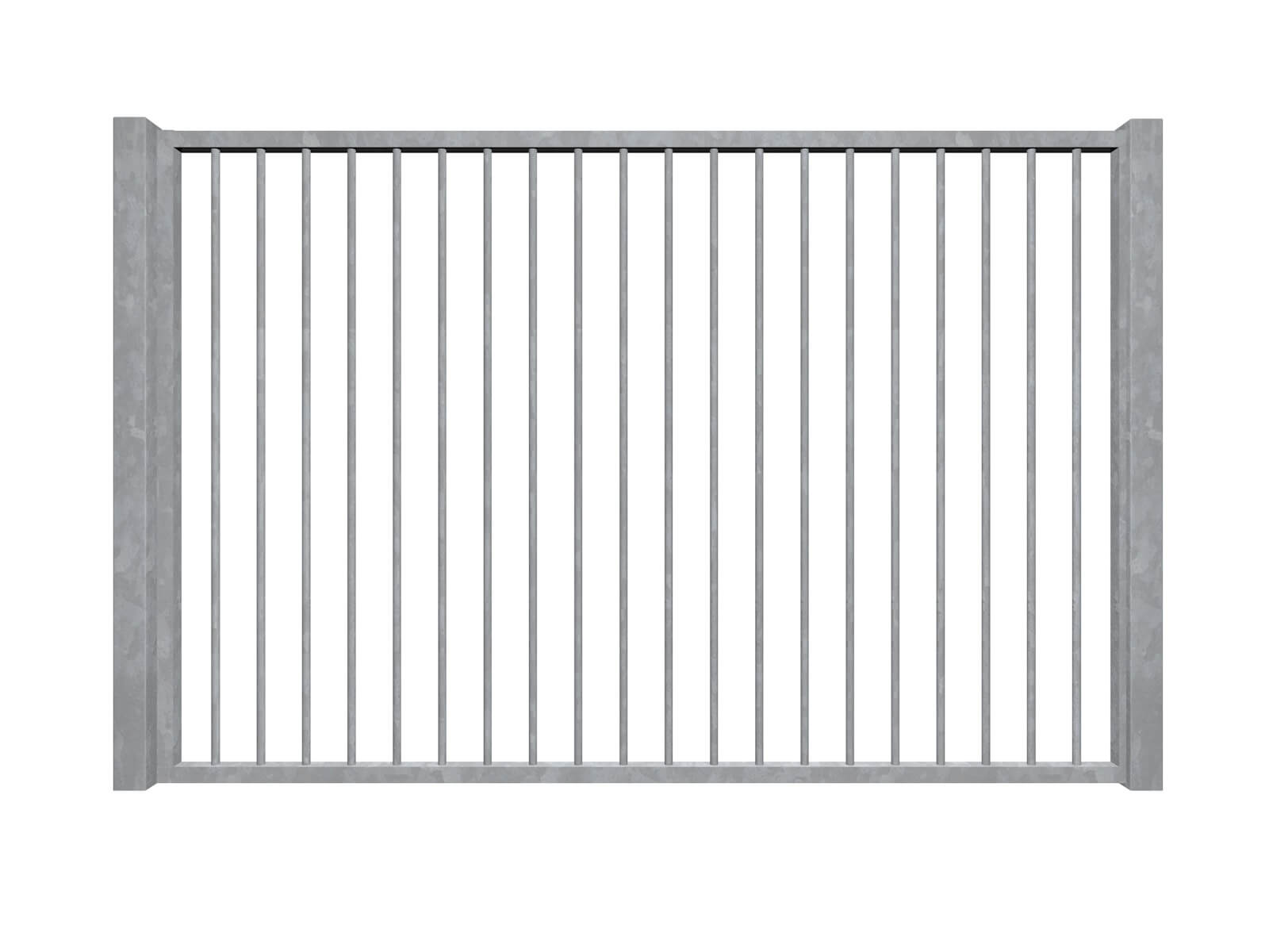 vertical bars galvanised sliding commercial metal gates