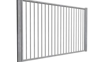 galvanised sliding commercial metal gates