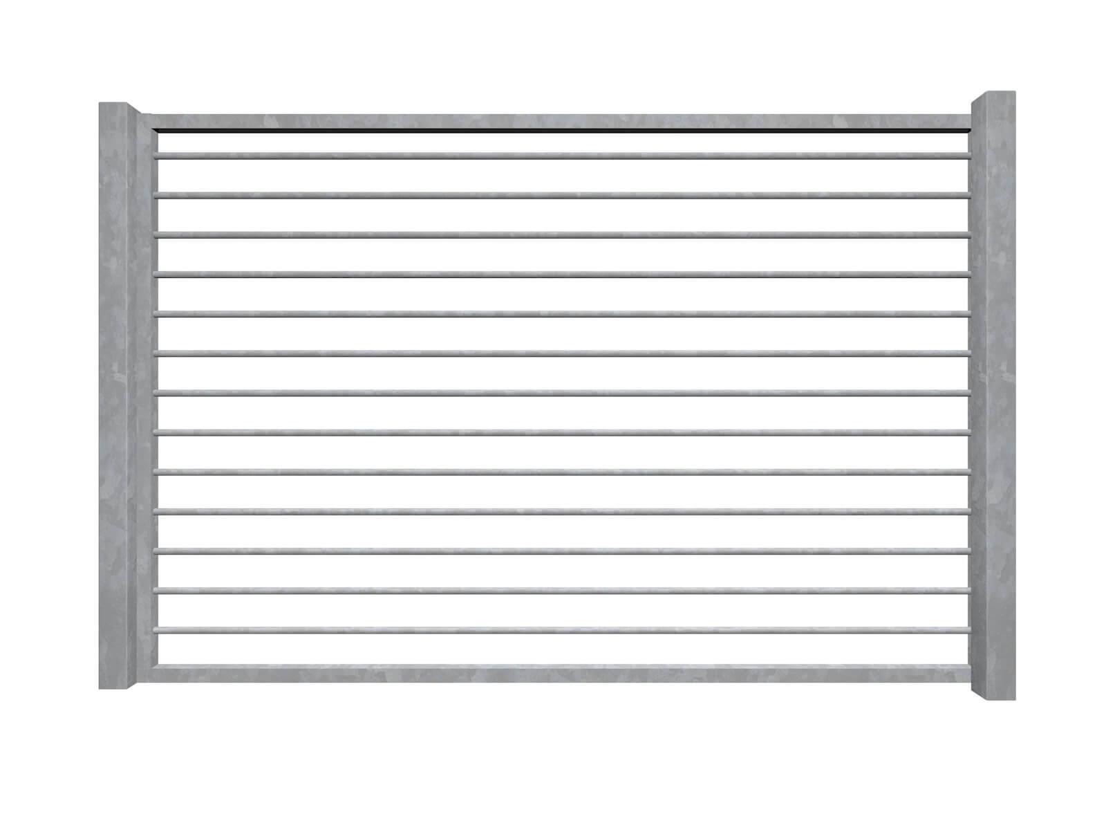 horizontal bars galvanised sliding commercial metal gates
