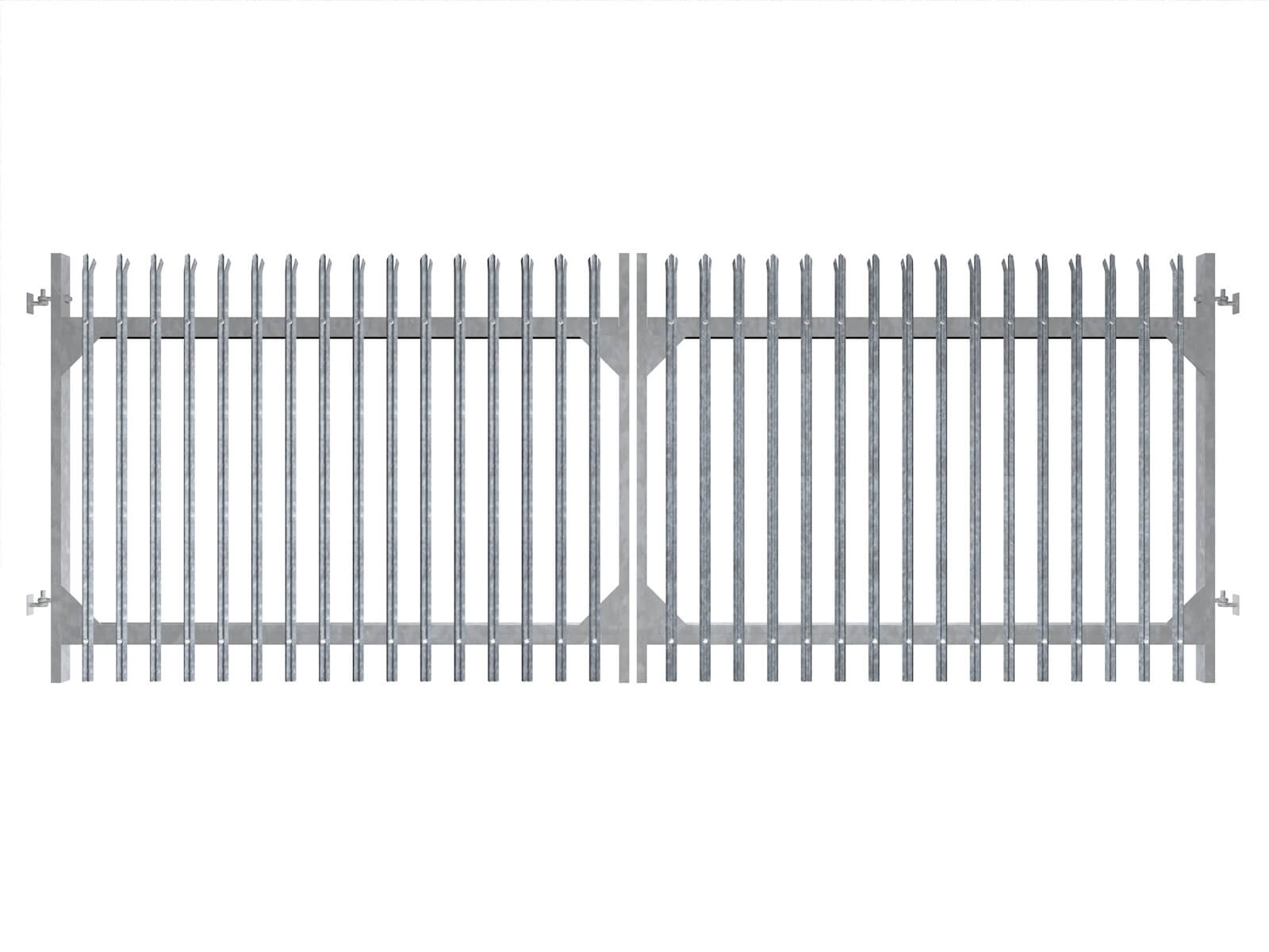 palisade commercial sliding metal commercial gates