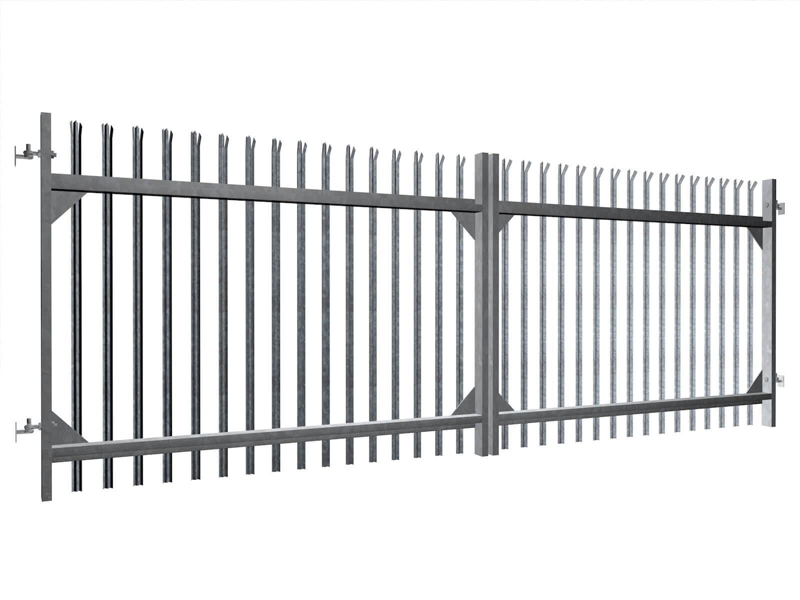 palisade commercial sliding metal commercial gates