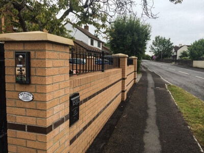 domestic steel perimeter fencing with finals