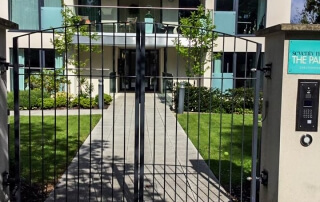 Commercial vertical bar swinging automated gate Bristol