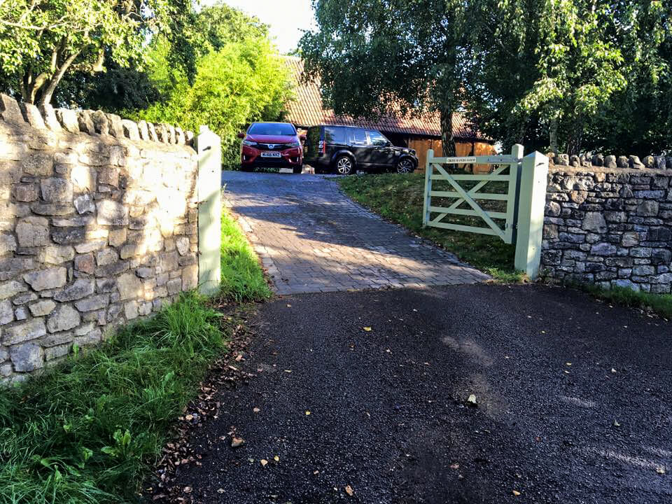 country style swinging five bar automated gate somerset