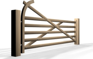 Country style premier 5-bar gate