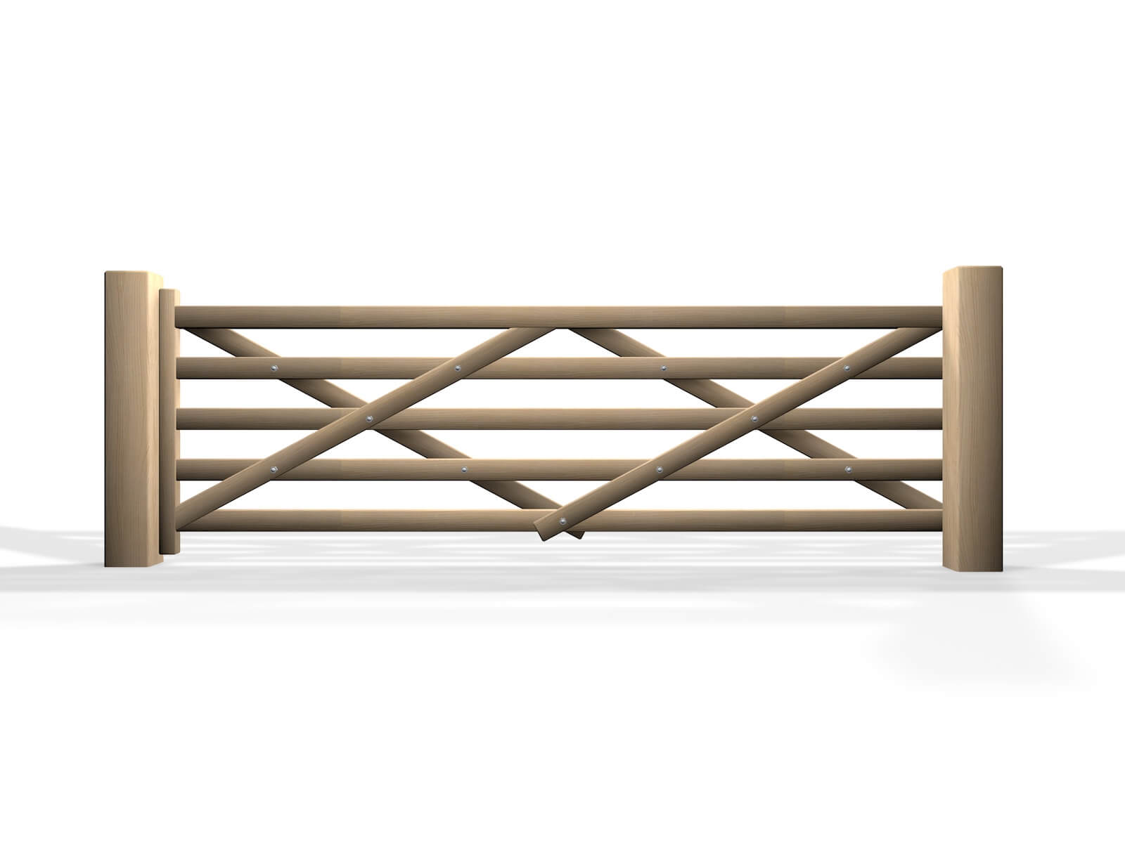 wooden five bar sliding automated gate design bristol