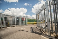 Automated Palisade swinging commercial galvanised metal gate