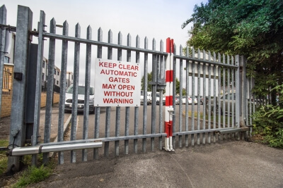 steel commercial school education facility fencing automated security gates bristol