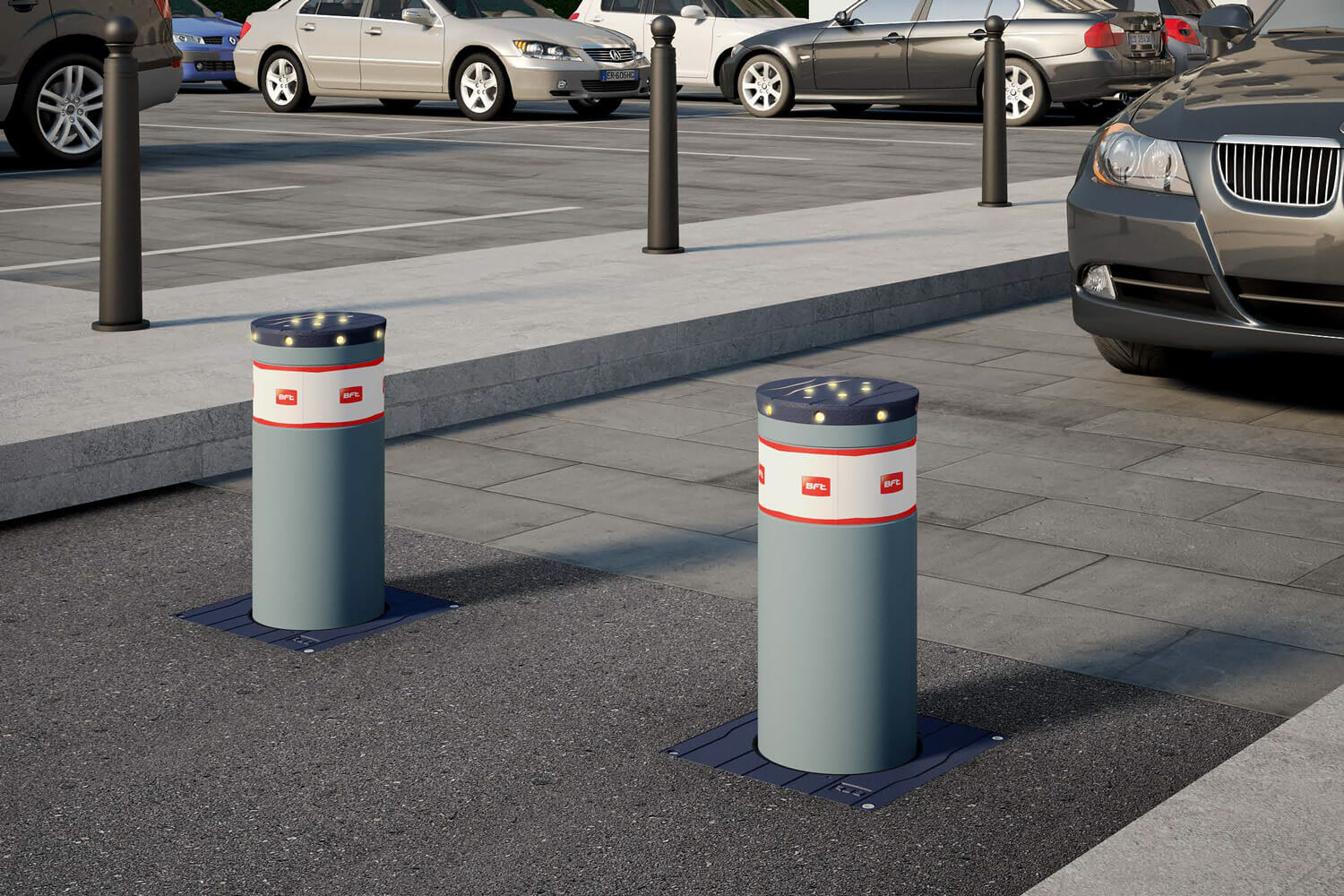 BFT automated security bollards installation and service