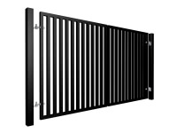 Square section vertical swinging metal gate