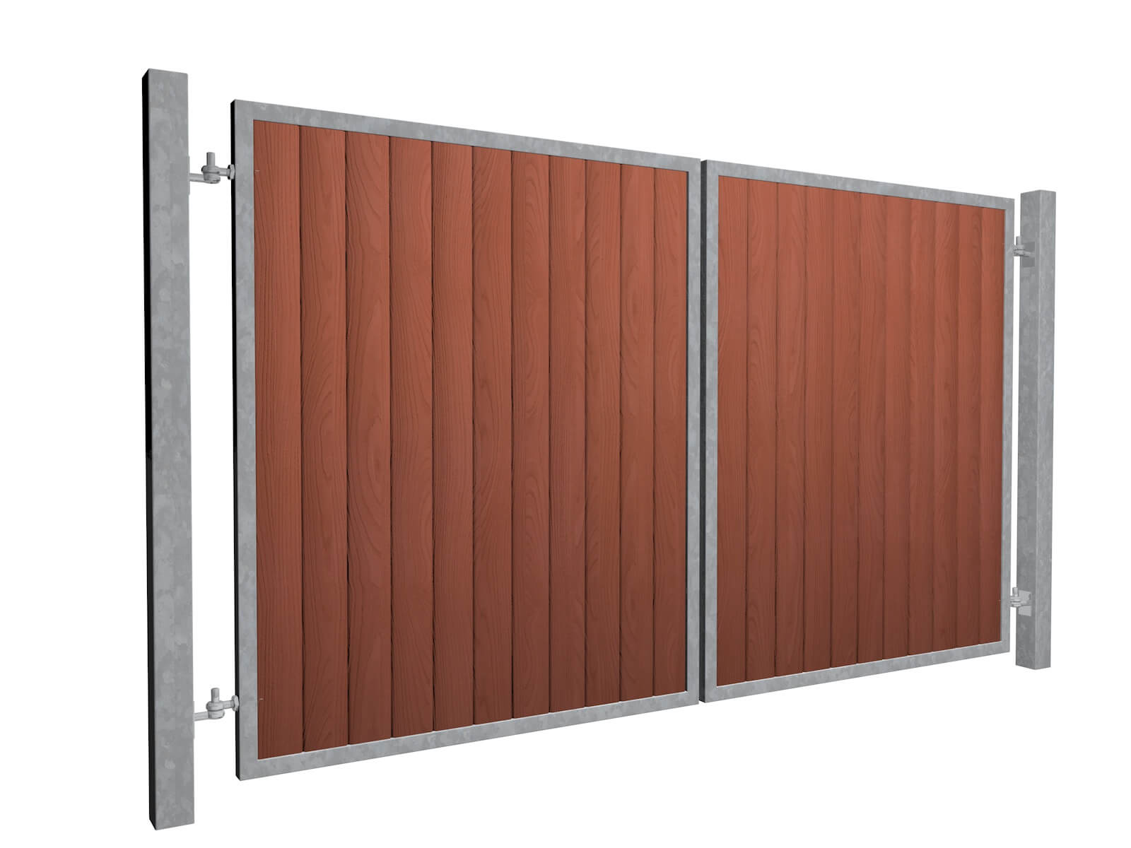 Metal framed commercial wood-fill gate