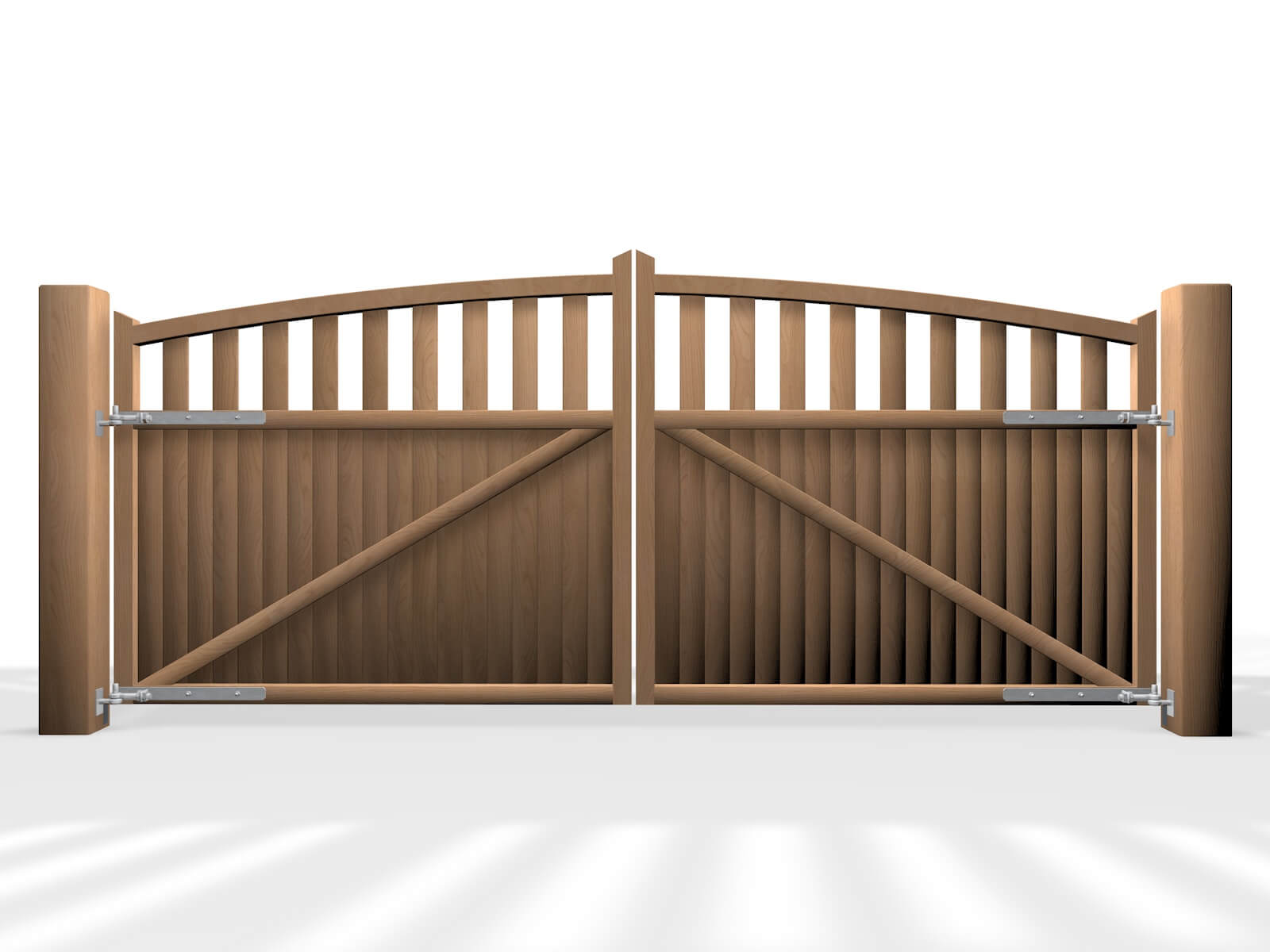 arch top open rail wooden swinging gate nailsea