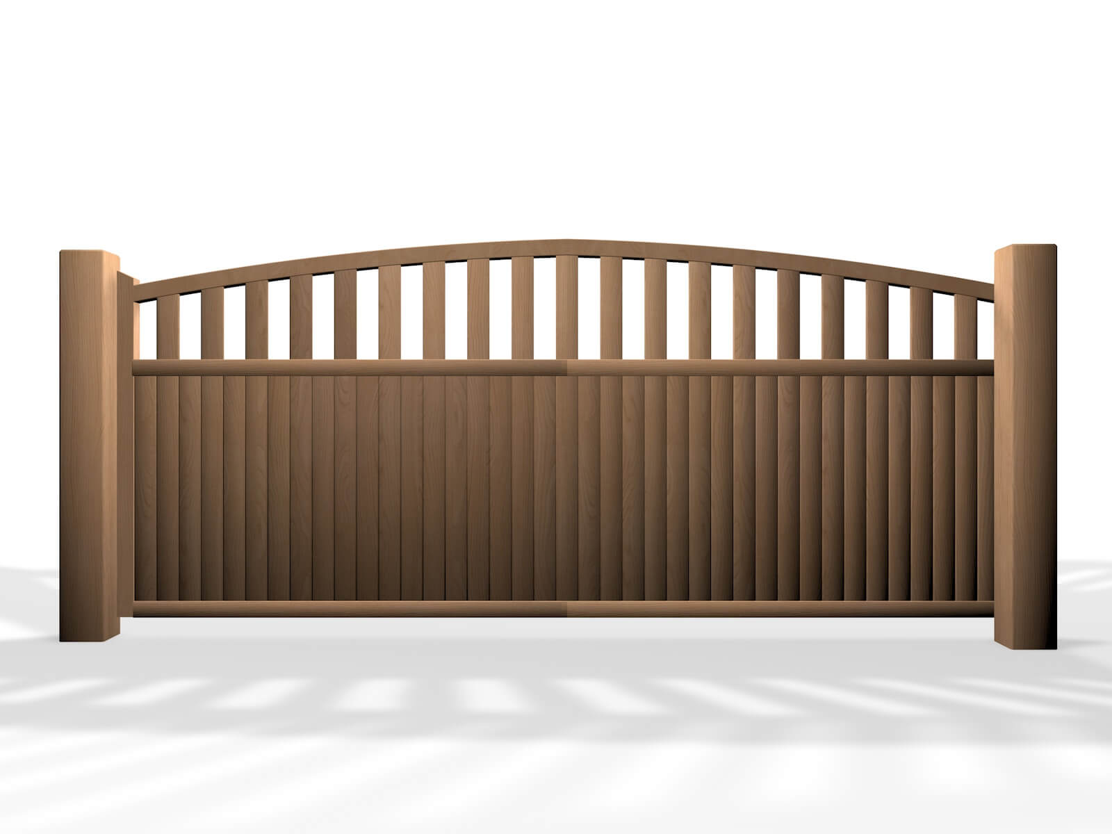 wooden arch open top sliding automated electric gate