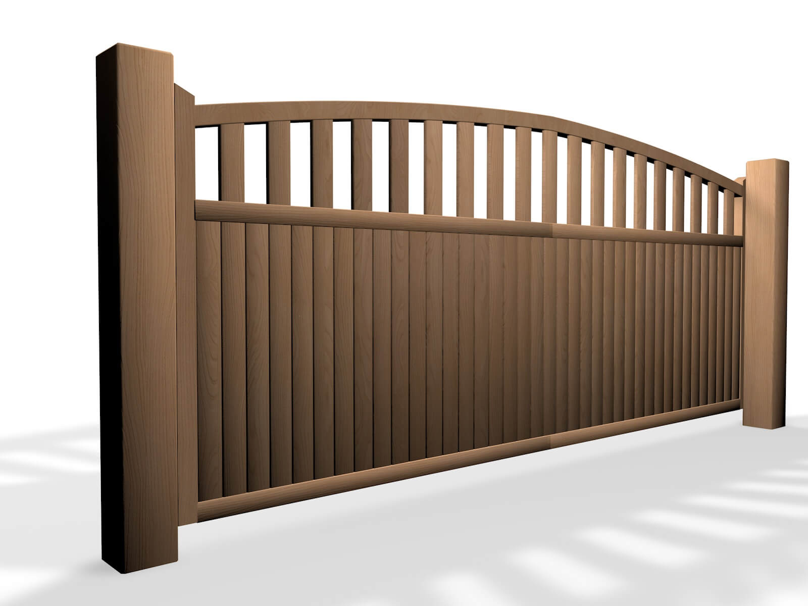 wooden arch open top sliding automated gate bristol