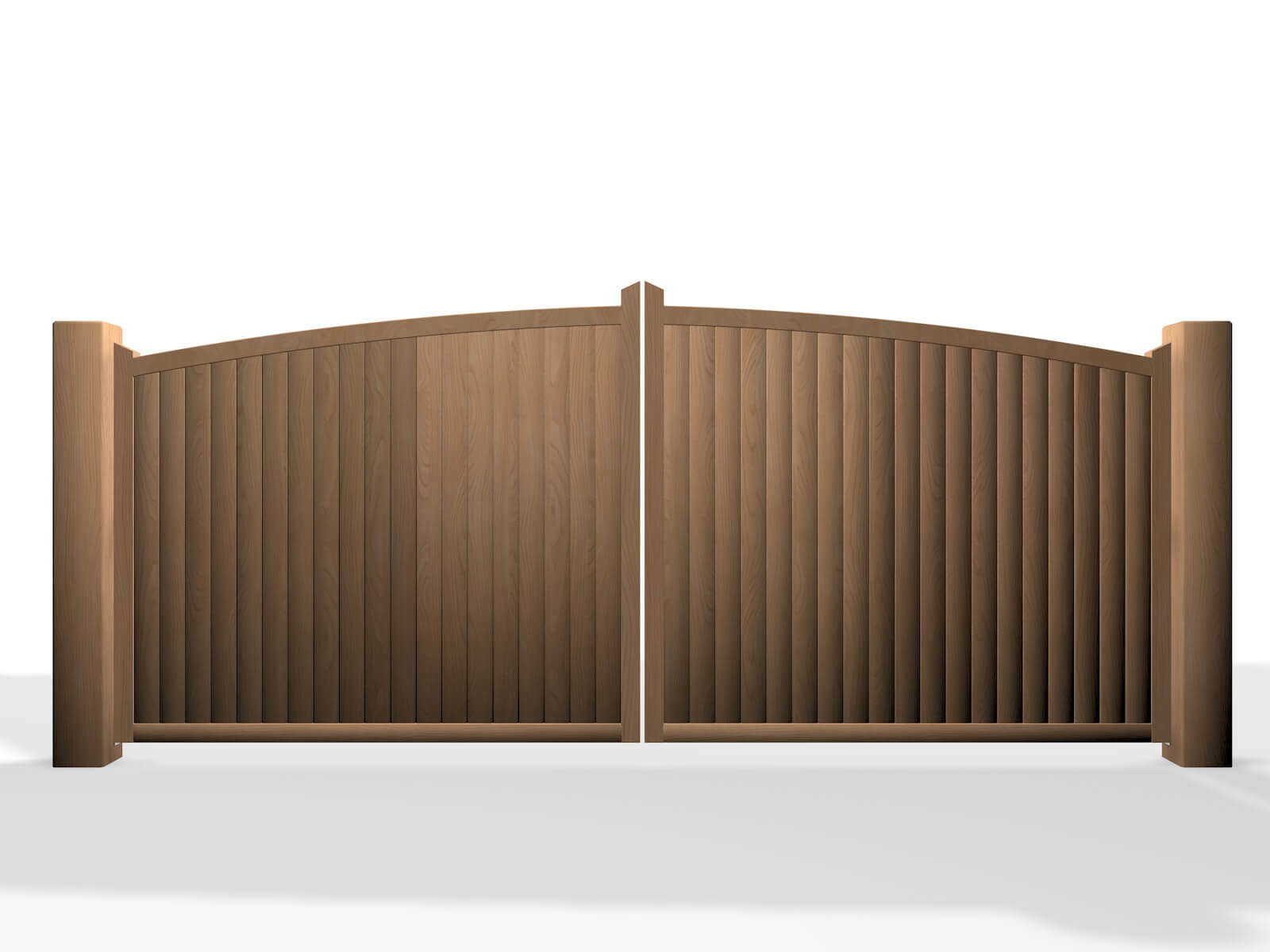 arch bow top wooden swinging gate in bristol