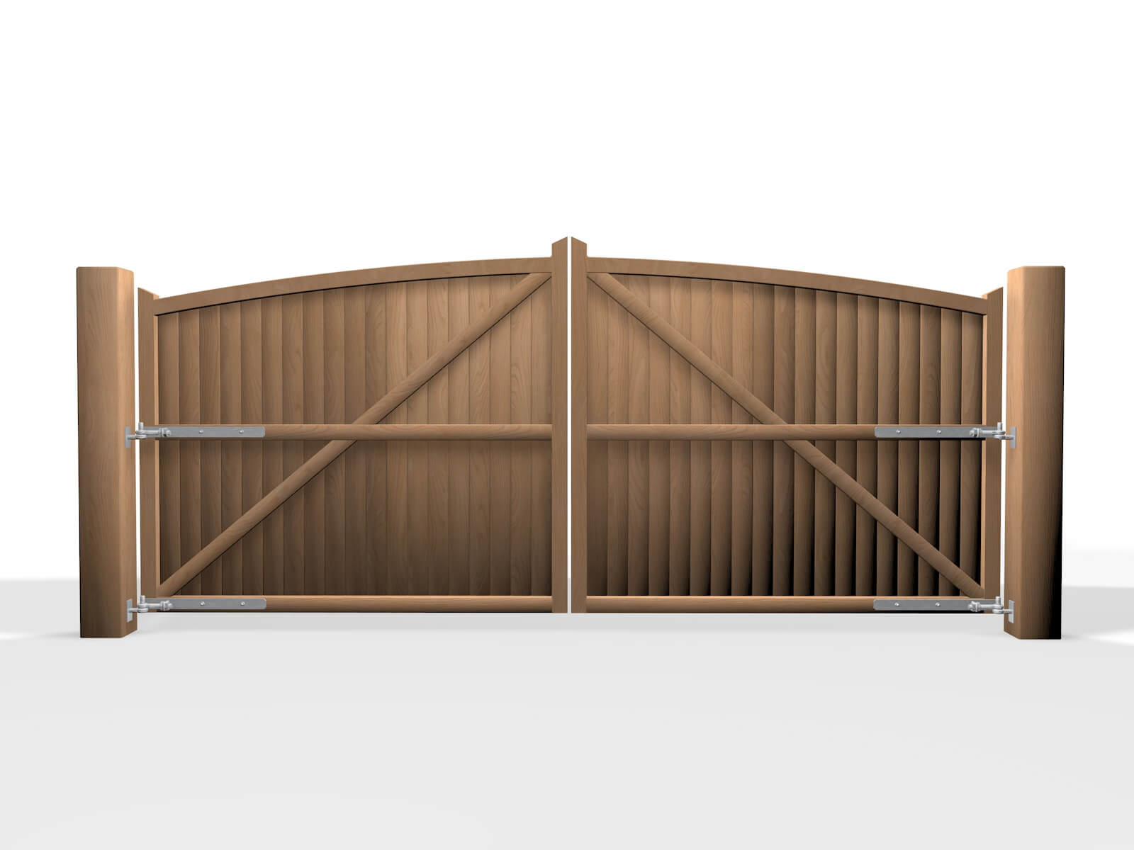 Bristol arch top wooden swinging gate
