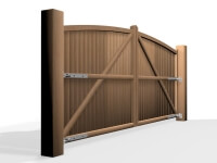 arch arch top wooden swinging gate